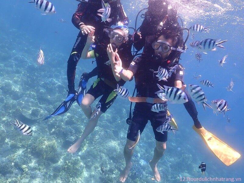 Tour 3 đảo Lặn Biển Hòn Mun